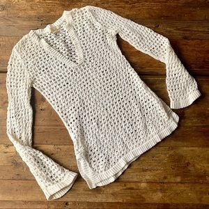 Michael by Michael Kors Eggshell Open Knit Sweater